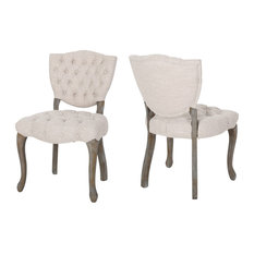 Case Tufted Dining Chair With Cabriole Legs, Set of 2