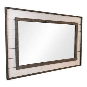 Shiplap Mirror With Reclaimed Wood, 36