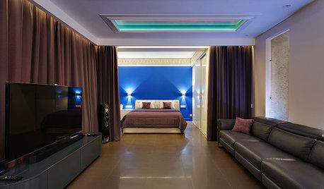 Houzz тур: Квартира в центре мегаполиса в оттенках синего
