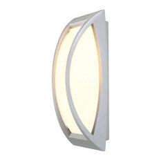 Powder coated aluminum outdoor lights houzz slv lighting meridian ii outdoor wall luminaire mozeypictures Gallery