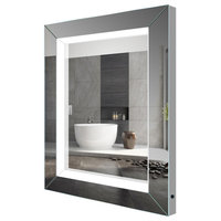 "Mariana Beveled LED Mirror With Touch Sensor, 24""x36"""