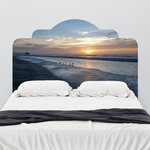 """J. Paul Moore - Paul Moore's Sunset Seagull Beach Adhesive Headboard Wall Decal, King, 76""""x38"""" - Rest peacefully knowing that when you fall asleep at night you'll get to wake up to this beautiful sunset wall decal."""