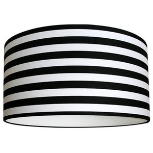 Patterned Lampshade, Circus Stripe, 40x23cm