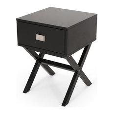 Topanga Contemporary End Table Black