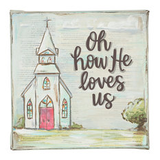 Oh How He Loves Us 6x6 Canvas