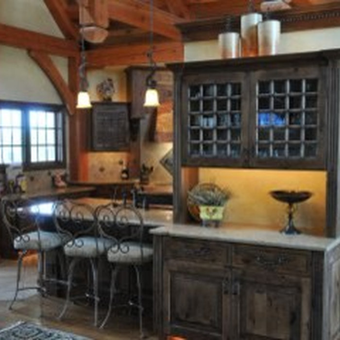 Rustic Kitchen with Large Pantry