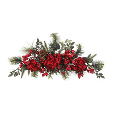 "Nearly Natural, Inc. - Nearly Natural 30"" Holiday Hydrangea Swag - Wreaths and Garlands"