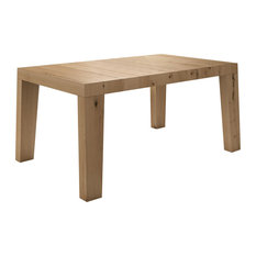 Calella Rustic Oak Dining Table, Single Extension