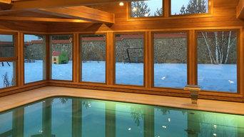 Плинтусная система Perimeter в доме с бассейном