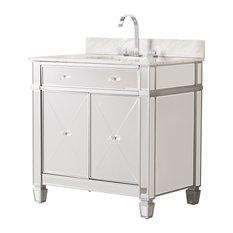 Paris Double-Door Bath Vanity Sink With Marble Top