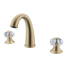 Brea 8-Inch Widespread 2-Handle Bathroom Faucet, Gold