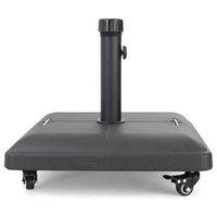 GDF Studio Hercules 80lbs Black Steel Square Umbrella Base With Wheels