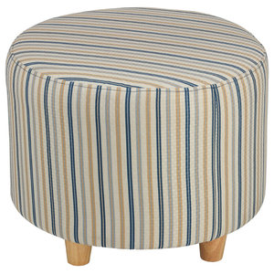 East At Main S Stanley White Round Teakwood Stool