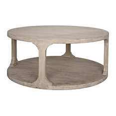 Reclaimed Lumber Gimso Round Coffee Table, Small