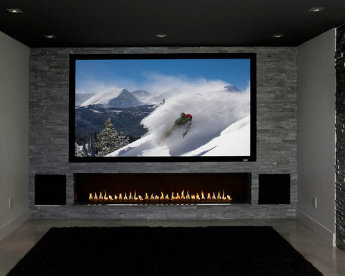 Custom - Home Entertainment Centre with Fireplace