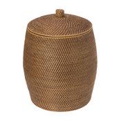 Rattan Beehive Hamper With Liner, Honey Brown