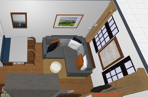 Layout For Tiny 130 Sqft Living Dining Room