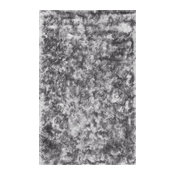 "Hand Woven Striped Shag Area Rug, Silver, 9'6""x13'6"""