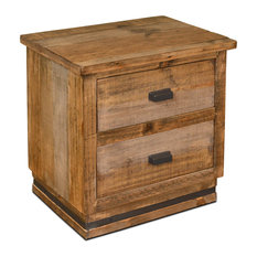 Sacramento Rustic Distresses Solid Wood 2-Drawer Nightstand