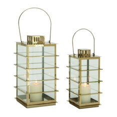 GwG Outlet Stainless Steel Glass Set of 2 Lantern, 13  , 18