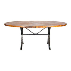 Animas Copper Top Dining Table - Oval X-Small: 60-inch