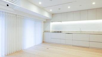 柔らかく光るキッチン