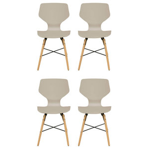 Charlie Dining Chairs, Beige, Set of 4
