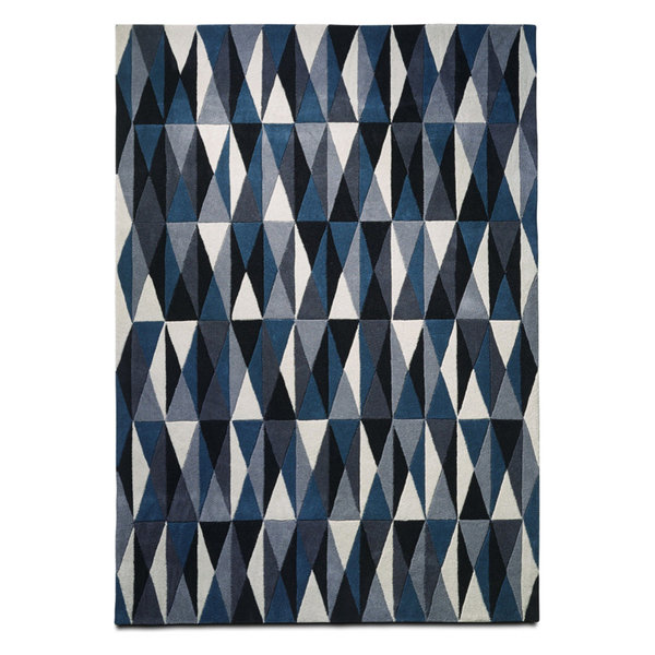 Modloft Blue Colored Classic Rug, Blue and Gray Mix 6'7