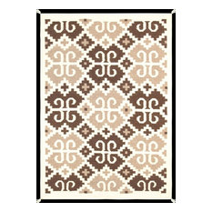Pasargad Navajo-Style Hand-Woven Wool Area Rug, 4'x6'