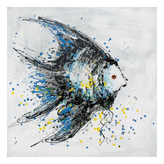 """""""Strength Abstract Fish"""" Hand Painted Art On Gallery Wrap Canvas"""