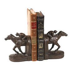 Bookend Horseshoe Rider Cast Resin New