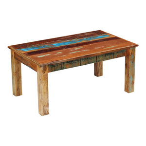 vidaXL Solid Reclaimed Wood Coffee Table, 100x60x45 cm