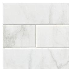 Classique White Carrara Glossy 4X16 Florence Ceramic 4X16 Ceramic