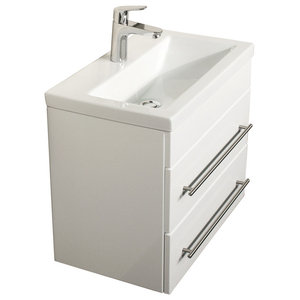 Emotion Mars 600 Bathroom Furniture, White High-Gloss, 60 cm, White High-Gloss
