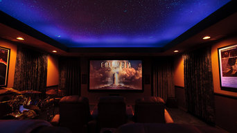 Theater Rooms with Night Sky Murals