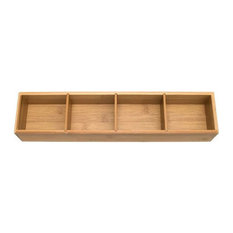 Bamboo Drawer Organizer with Dividers