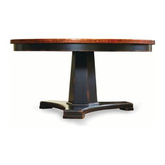 Sanctuary 48 in Round Pedestal Dining Table Ebony and Copper