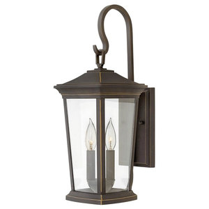 Hinkley Bromley 2-Light Outdoor Small Wall Mount in Oil Rubbed Bronze