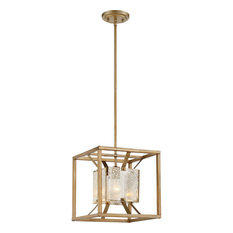 """Pendant 1-Light With Antique Gold Finish Steel Material Medium Base 12"""", 60W"""