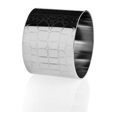 Croco Design Napkin Rings, Set of 4