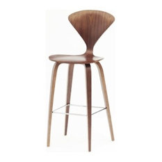 """Fine Mod Imports, Wooden Counter Chair 25"""", Natural, Walnut, 36""""x17""""x17"""""""