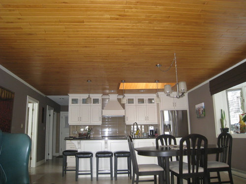 Should We Paint The Oak Ceiling In Our Kitchen? Ceiling Height Is 8ft.
