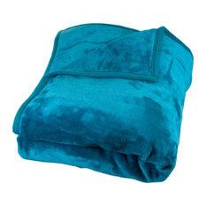 Heavy Plush Mink Blanket, Aqua