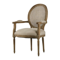 Medallion Armchair - Natural, Limed Gray