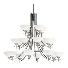 Kichler Lighting Olympia 20-Light Chandelier Antique Pewter Satin Etched Glass