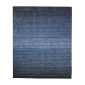 Contemporary Blue Wool Rug, 5'x8'