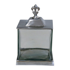 St Croix Trading Fleur De Lis Apothecary Jar With Lid And Base
