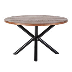 Round Wooden Dining Table Small Eleonora Mango