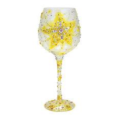 """Bright Star"" Super Bling Wine Glass"