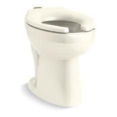 Kohler Highcliff Ultra ADA-Height Flushometer Bowl with Top Spud, Biscuit
